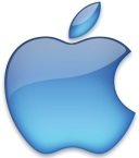 Apple logo blue
